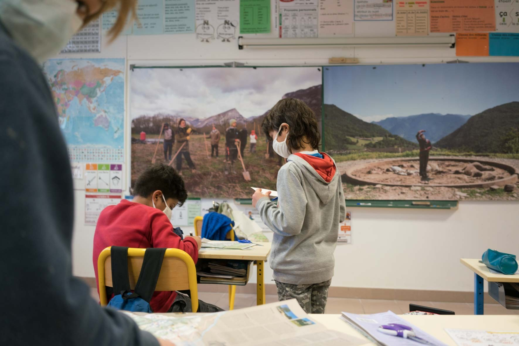 Atelier à l'école de Vassieux en Vercors